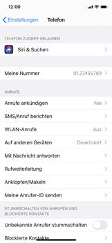 Apple iPhone XS - iOS 13 - WiFi - WiFi Calling aktivieren - Schritt 5