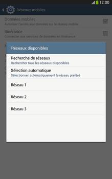 Samsung Galaxy Tab 3 8-0 LTE - Réseau - Sélection manuelle du réseau - Étape 8