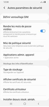 Samsung Galaxy A40 - Sécuriser votre mobile - Personnaliser le code PIN de votre carte SIM - Étape 6