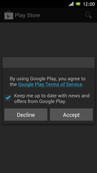 Sony Xperia J - Applications - Setting up the application store - Step 16