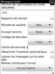 BlackBerry 9800 Torch - SMS - Configuration manuelle - Étape 5