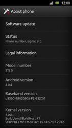 Sony Xperia U - Software - Installing software updates - Step 6