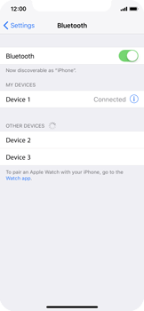 Apple iPhone X - Bluetooth - Connecting devices - Step 8