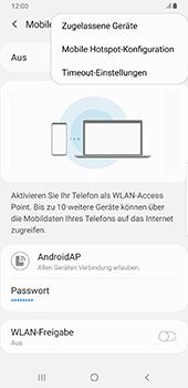 Samsung Galaxy S9 Plus - Android Pie - WiFi - So aktivieren Sie einen WLAN-Hotspot - Schritt 9