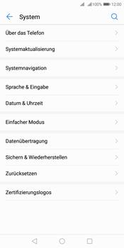 Huawei Y7 (2018) - Gerät - Zurücksetzen auf die Werkseinstellungen - Schritt 4