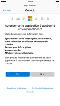 Apple iPhone 7 Plus - E-mail - Configuration manuelle (outlook) - Étape 7