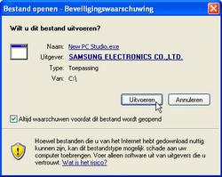 Samsung I8000 Omnia II - Software - PC-software installeren - Stap 13