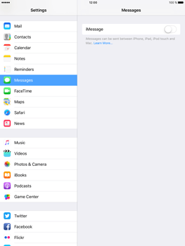 Apple iPad Air 2 iOS 10 - iOS features - Send iMessage - Step 4