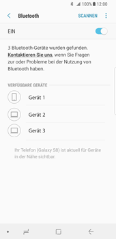 Samsung Galaxy S8 - Android Oreo - Bluetooth - Geräte koppeln - Schritt 9