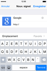 Apple iPhone 4s iOS 8 - Internet - Navigation sur Internet - Étape 6
