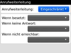 BlackBerry Bold - Anrufe - Rufumleitungen setzen und löschen - 6 / 12