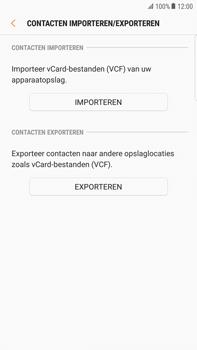 Samsung Galaxy S6 edge+ - Android Nougat - Contacten en data - Contacten kopiëren van toestel naar SIM - Stap 7