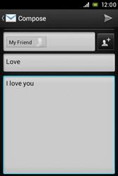 Sony C1505 Xperia E - E-mail - Sending emails - Step 10