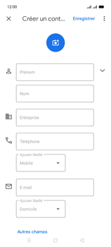 Oppo A15 - Contact, Appels, SMS/MMS - Ajouter un contact - Étape 6
