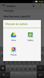 Acer Liquid E3 - E-mail - Sending emails - Step 12