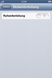 Apple iPhone 4S - Anrufe - Rufumleitungen setzen und löschen - Schritt 5