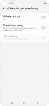 Samsung galaxy-xcover-pro-sm-g715fn - WiFi - Mobiele hotspot instellen - Stap 6