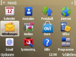 Nokia E72 - SMS - Manuelle Konfiguration - Schritt 3