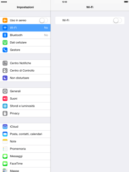 Apple iPad Retina iOS 7 - WiFi - Configurazione WiFi - Fase 4