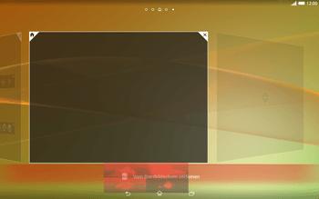 Sony Xperia Tablet Z2 LTE - Startanleitung - Installieren von Widgets und Apps auf der Startseite - Schritt 8