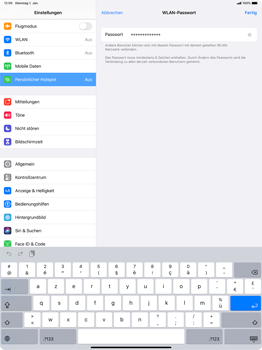 Apple iPad Pro 12.9 (1st gen) - ipados 13 - WiFi - So aktivieren Sie einen WLAN-Hotspot - Schritt 5