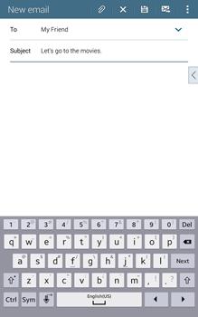 Samsung T335 Galaxy Tab 4 8-0 - E-mail - Sending emails - Step 9