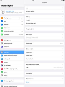 Apple iPad Pro 12.9 (1st gen) - iOS 11 - Instellingen aanpassen - Fabrieksinstellingen terugzetten - Stap 3