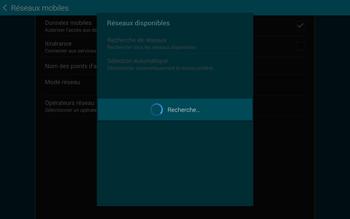 Samsung T805 Galaxy Tab S - Réseau - Sélection manuelle du réseau - Étape 8