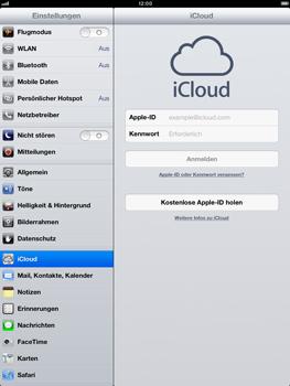 Apple iPad Retina iOS 7 - Apps - Konfigurieren des Apple iCloud-Dienstes - Schritt 4
