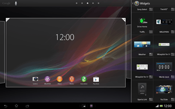 Sony Xperia Tablet Z LTE - Getting started - Installing widgets and applications on your start screen - Step 4