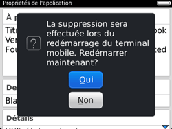 BlackBerry 9320 - Applications - Supprimer une application - Étape 10