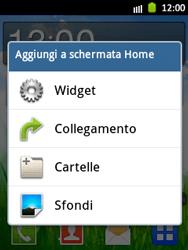 Samsung Galaxy Pocket - Operazioni iniziali - Installazione di widget e applicazioni nella schermata iniziale - Fase 3