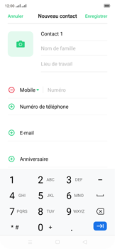 Oppo Reno 2Z - Contact, Appels, SMS/MMS - Ajouter un contact - Étape 6