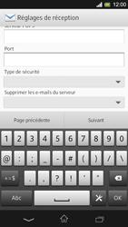 Sony Xpéria SP - E-mails - Ajouter ou modifier un compte e-mail - Étape 10