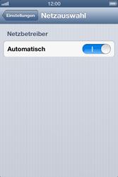 Apple iPhone 4S - Netzwerk - Manuelle Netzwerkwahl - Schritt 4