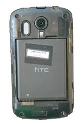 HTC A310e Explorer - SIM-Karte - Einlegen - Schritt 5