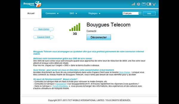 Alcatel OT-Y580D - Premiers pas - Accéder à votre interface de gestion - Étape 3