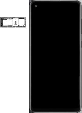 Samsung Galaxy A21s - Premiers pas - Insérer la carte SIM - Étape 4