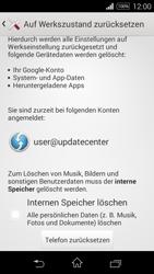 Sony Xperia E3 - Fehlerbehebung - Handy zurücksetzen - 8 / 11