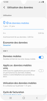 Samsung Galaxy A40 - Internet et connexion - Désactiver la connexion Internet - Étape 6