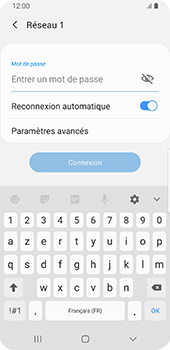 Samsung Galaxy S9 Android Pie - Wifi - configuration manuelle - Étape 7