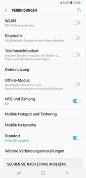 Samsung Galaxy S8 Plus - WLAN - Manuelle Konfiguration - 5 / 10