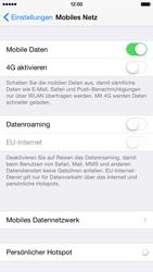 Apple iPhone 6 iOS 8 - Internet und Datenroaming - Prüfen, ob Datenkonnektivität aktiviert ist - Schritt 5