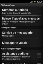Sony C1505 Xperia E - Messagerie vocale - configuration manuelle - Étape 6