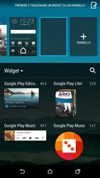 HTC One M9 - Operazioni iniziali - Installazione di widget e applicazioni nella schermata iniziale - Fase 5