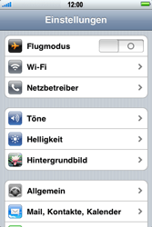 Apple iPhone 3G - WLAN - Manuelle Konfiguration - Schritt 3