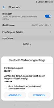 Huawei Mate 10 Pro - Bluetooth - Geräte koppeln - Schritt 9
