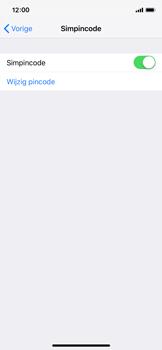 Apple iPhone XS - Beveiliging - Stel de pincode voor je simkaart in - Stap 12