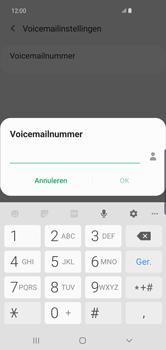 Samsung Galaxy S10 Plus - voicemail - handmatig instellen - stap 11