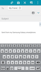 Samsung G900F Galaxy S5 - E-mail - Sending emails - Step 8
